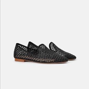 Zara Die Cut Flat Shoes Size 6